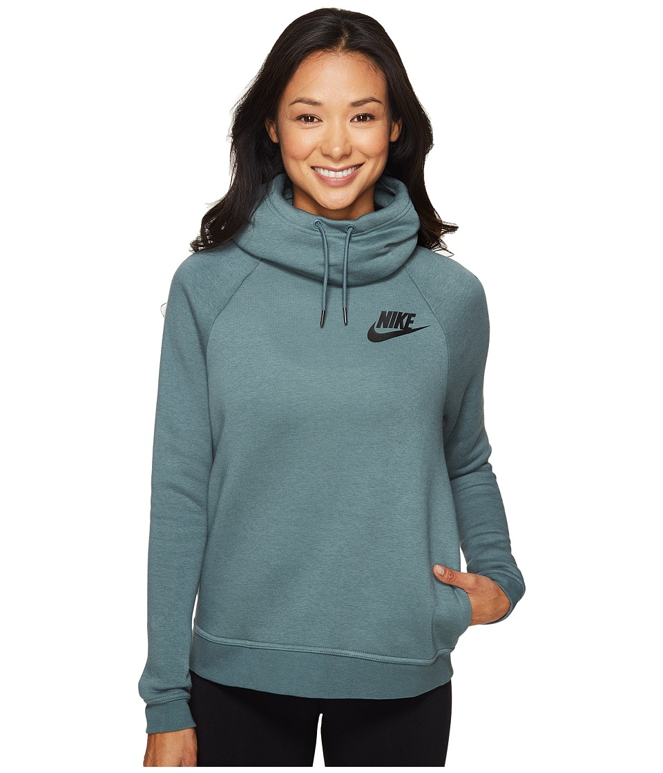 Nike - Rally Pullover Hoodie (Hasta/Hasta/Antique Silver/Black) Women's Sweatshirt