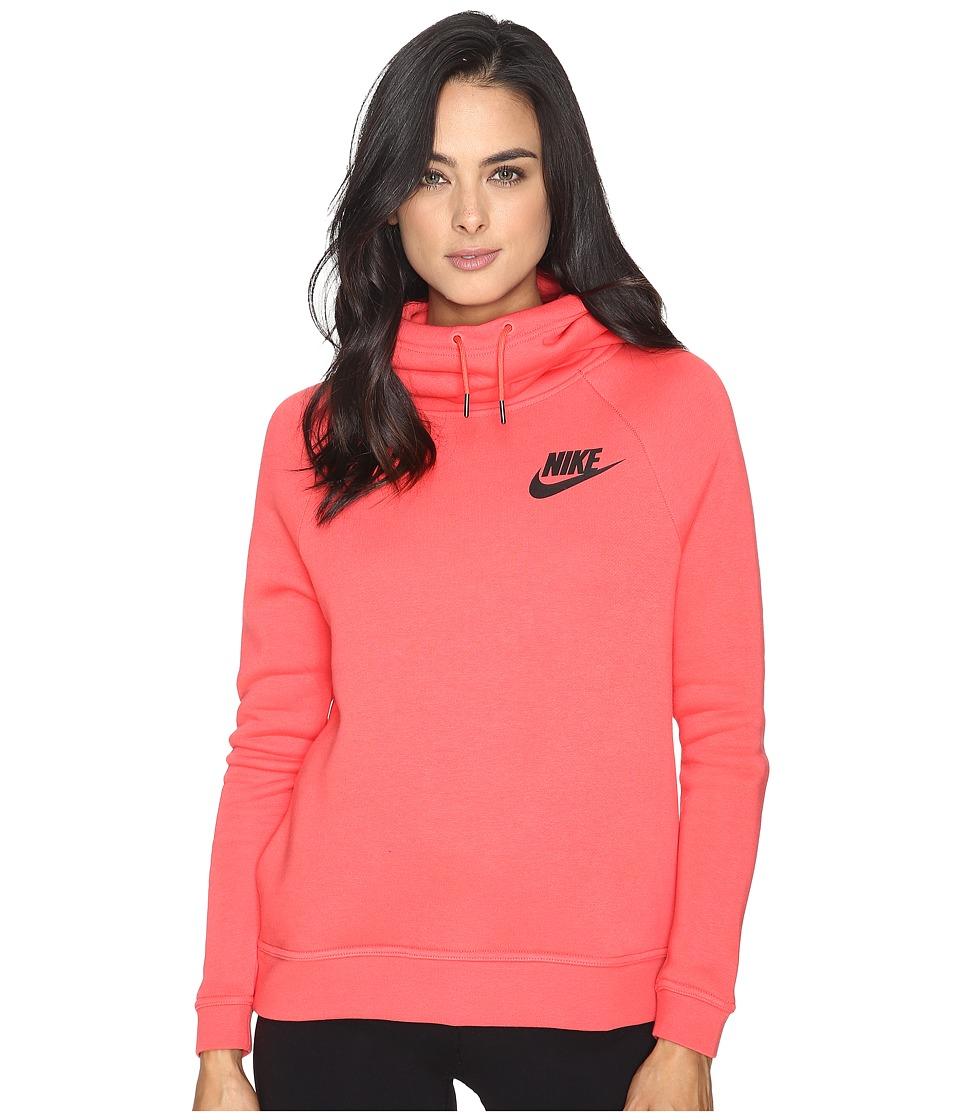 Nike - Rally Pullover Hoodie (Ember Glow/Ember Glow/Black) Women's Sweatshirt