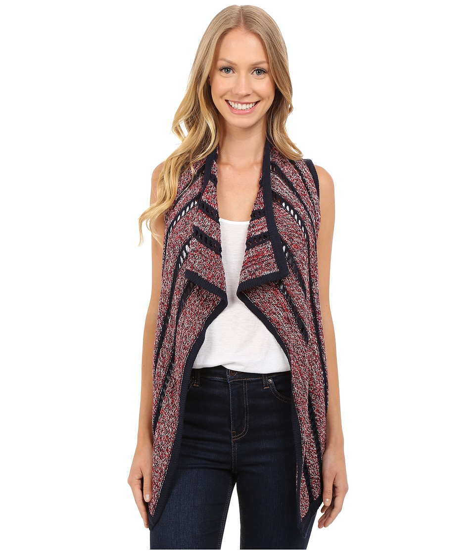 Lucky Brand - Striped American Vest (Blue Multi) Women's Vest