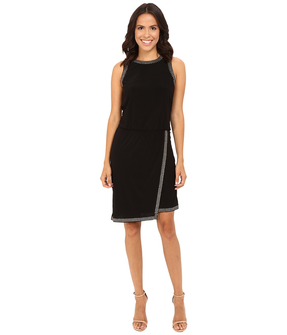rsvp - Betty Gold Trim Dress (Black/Gold Trim) Women's Dress