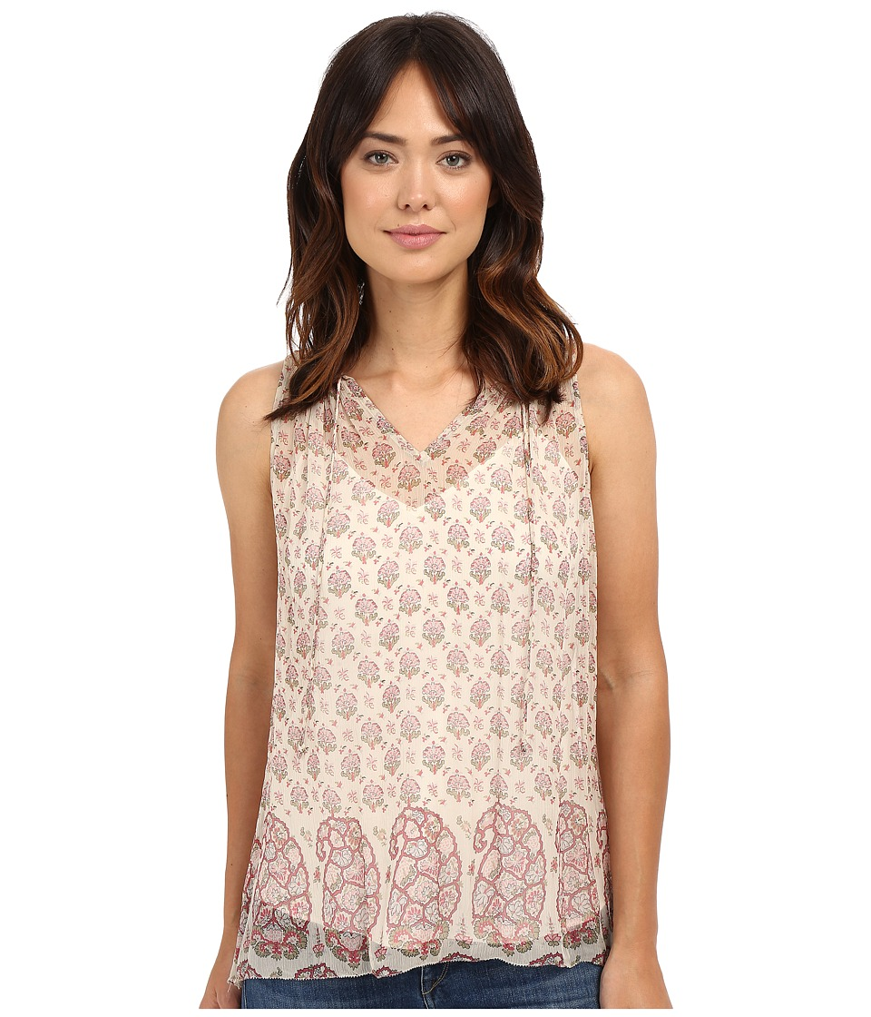 Lucky Brand - Feminine Pleated Tank Top (Pink Multi) Women's Sleeveless