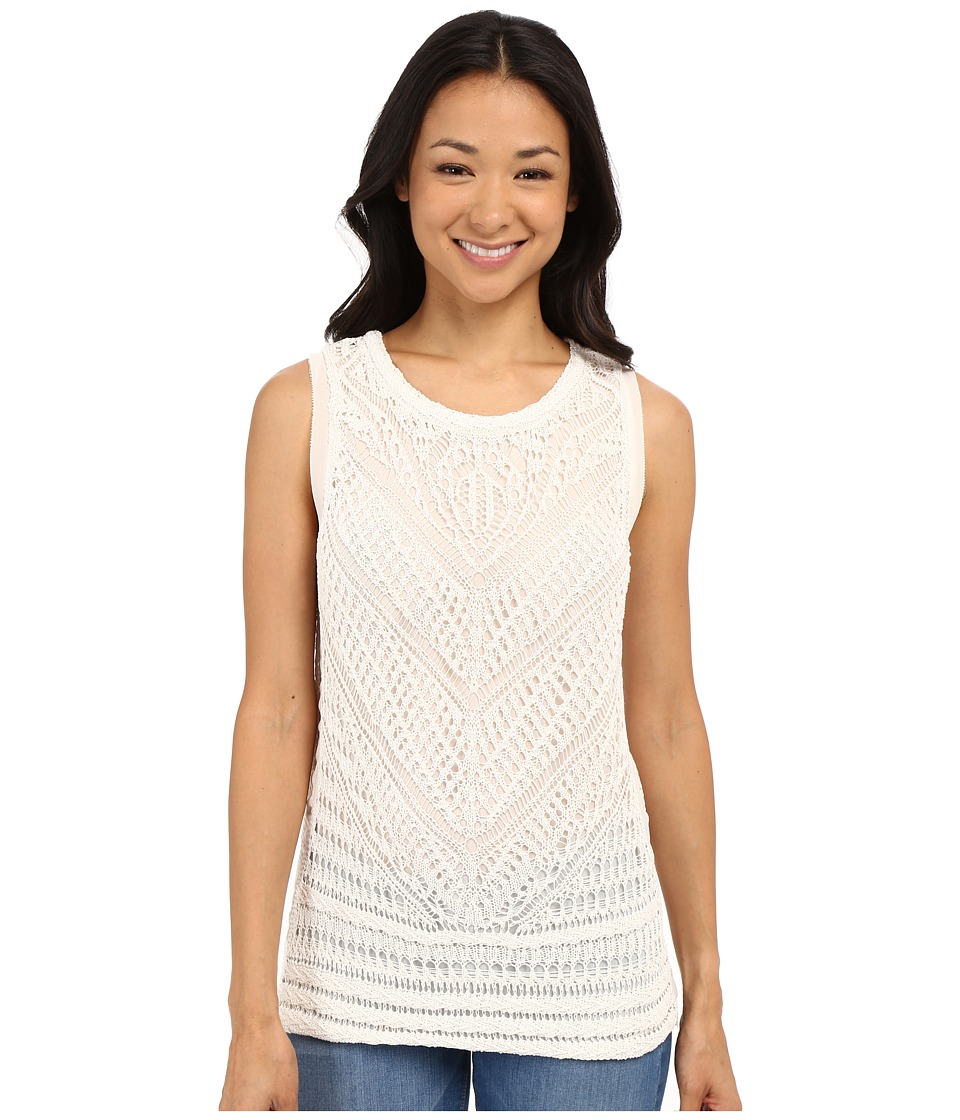 Lucky Brand - Mixed Stitch Tank Top (Marshmallow) Women's Sleeveless