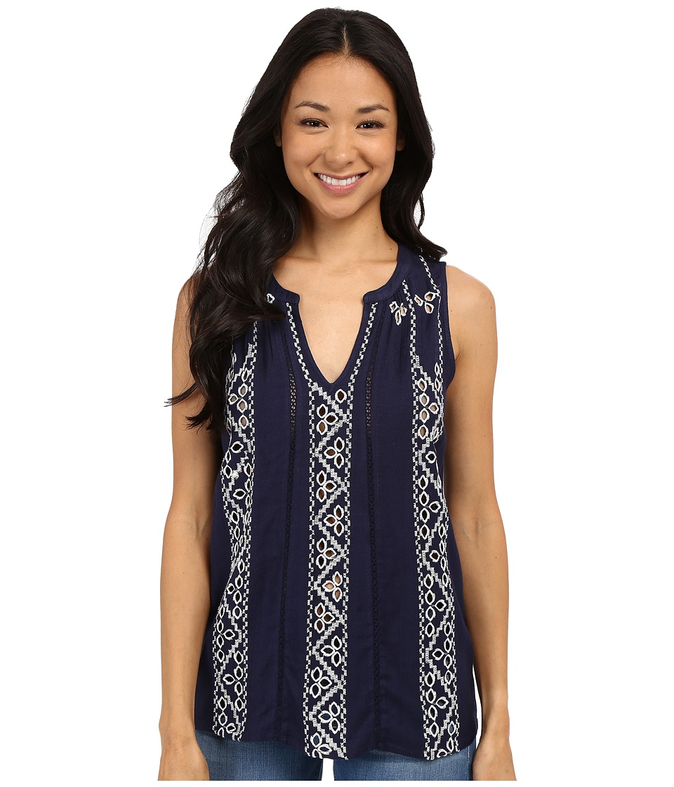 Lucky Brand - Embroidered Tank Top (American Navy) Women's Sleeveless