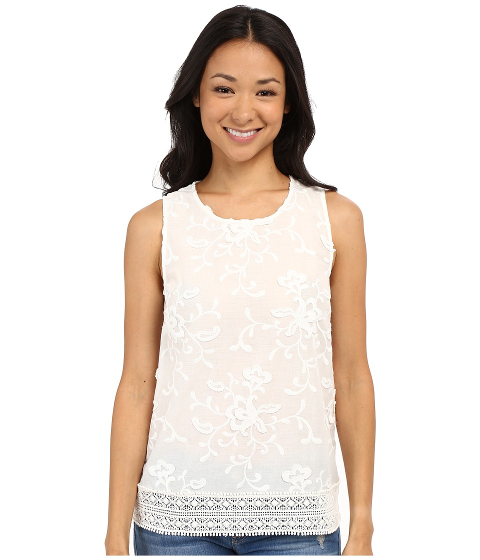 Lucky Brand - Floral Jacquard Tank Top (Egret) Women's Sleeveless