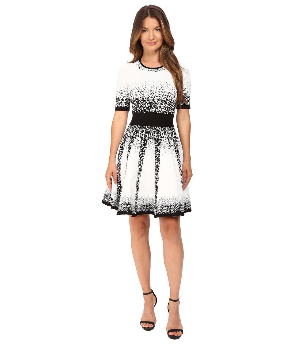 YIGAL AZROUEL Jacquard Ombre Knit Dress (Jet Multi) Women