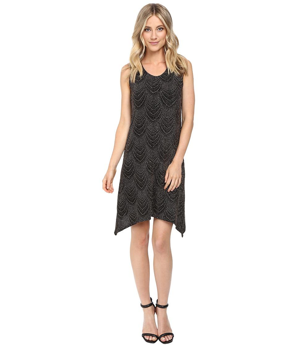 rsvp Megane Glitter Dress (Black/Rose) Women