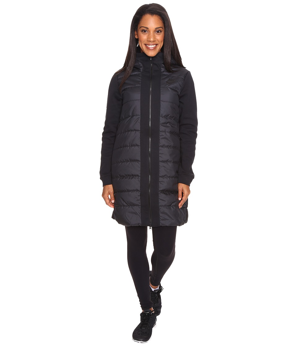 Nike - Sportswear Advance 15 Parka (Black/Black/Black) Women's Coat
