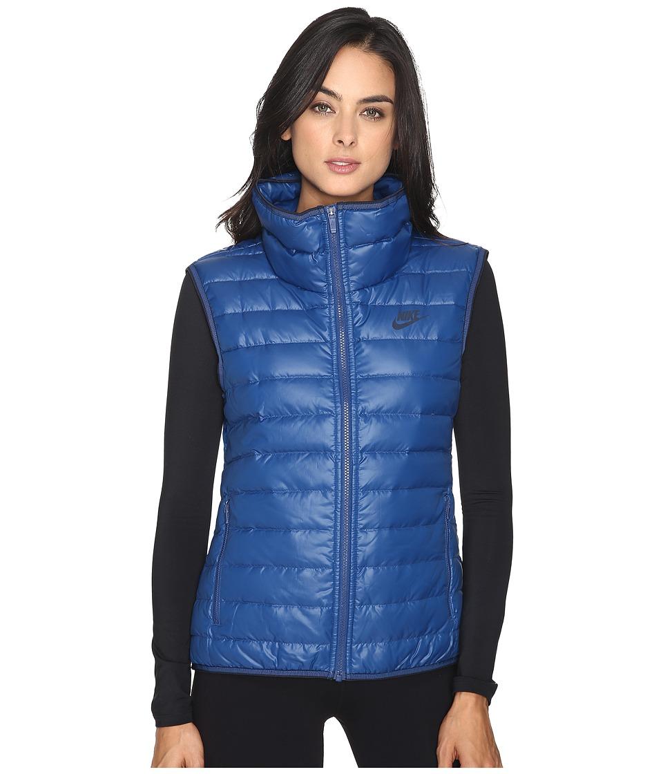 Nike - Sportswear Down Fill Vest (Coastal Blue/Coastal Blue/Obsidian) Women's Vest