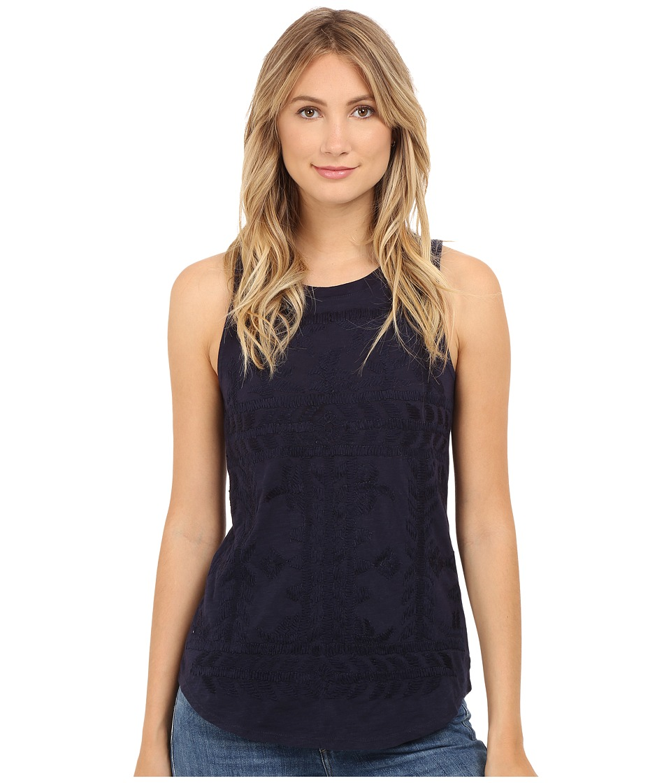 Lucky Brand - Embroidered Tank Top (Dress Blues) Women's Sleeveless