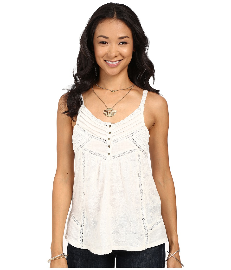 Lucky Brand - Mixed Trim Cami (Cloud Dancer) Women's Sleeveless