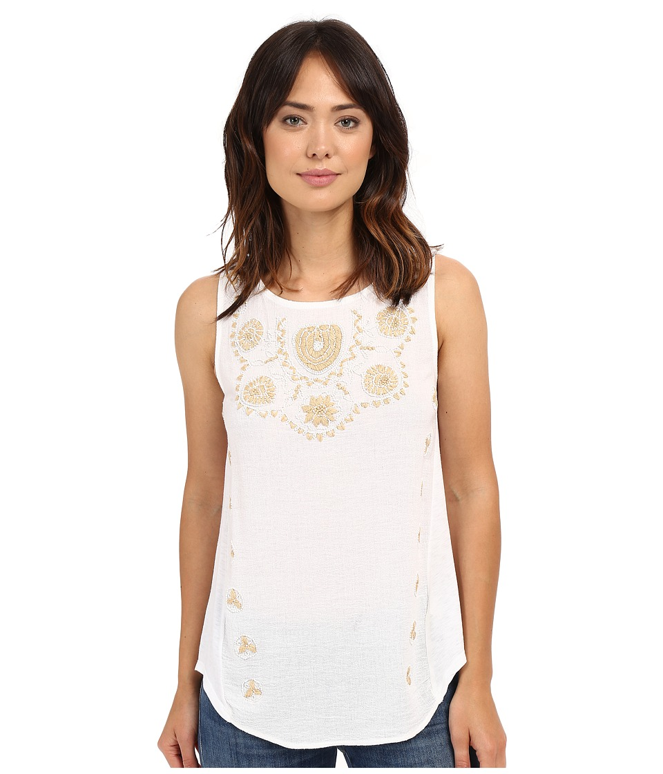 Lucky Brand - Scoop Neck Tank Top (Lucky White) Women's Sleeveless