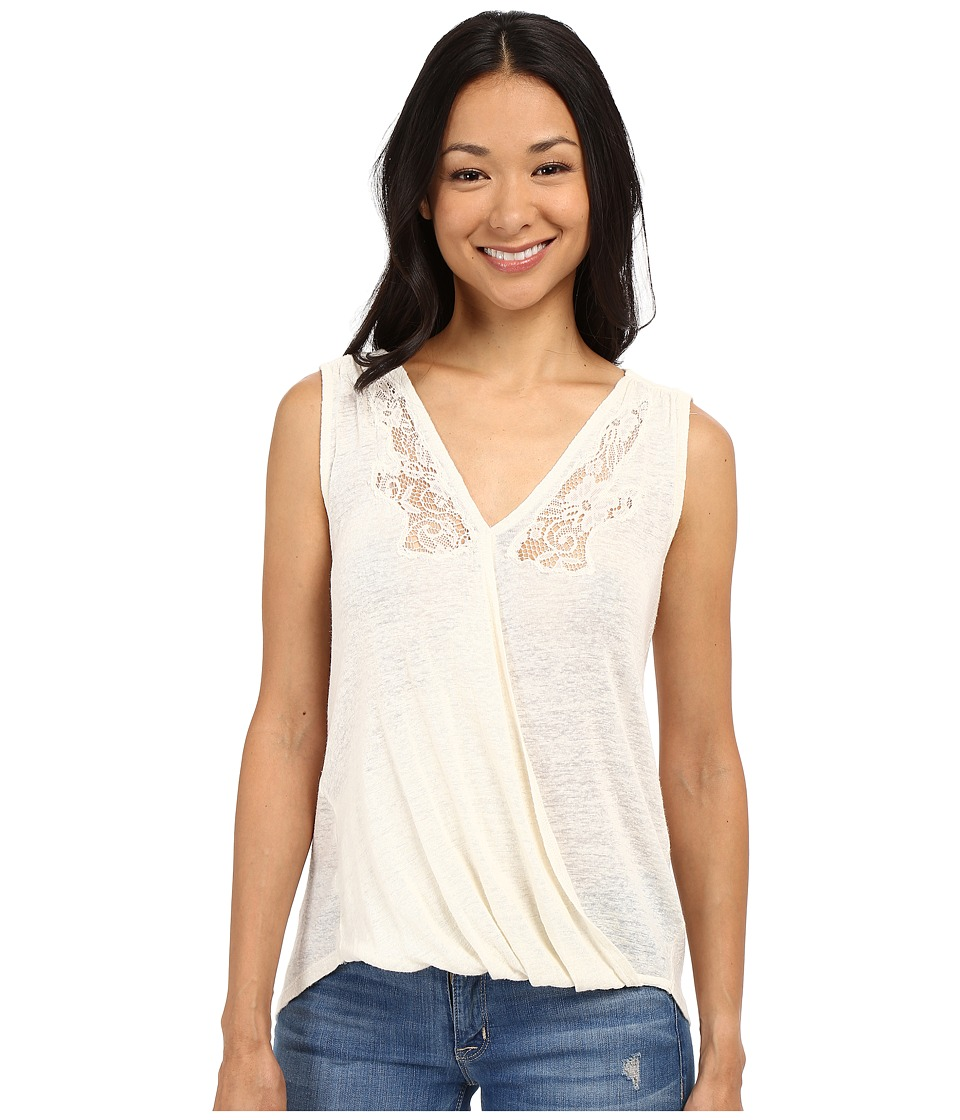 Lucky Brand - Sleeveless Surplice Shirt (Egret) Women's Sleeveless