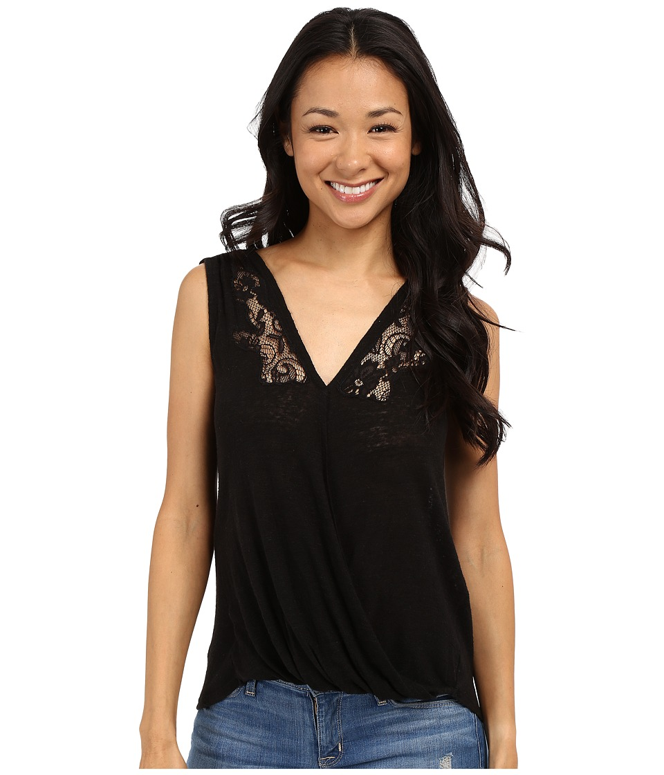 Lucky Brand - Sleeveless Surplice Shirt (Lucky Black) Women's Sleeveless