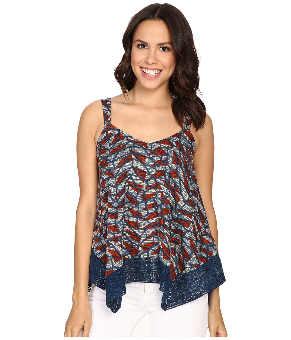 Lucky Brand - Lace Trim Tank Top (Multi) Women's Sleeveless