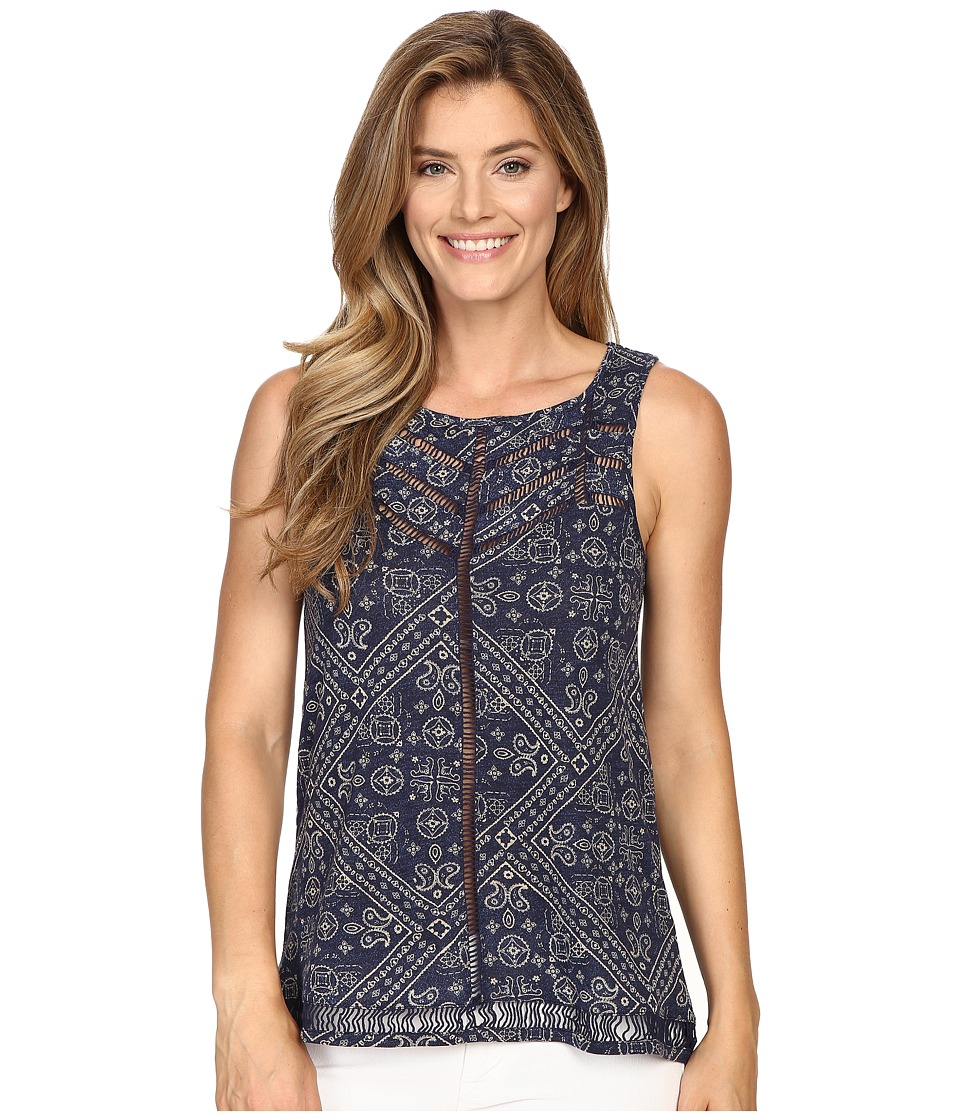 Lucky Brand - Ladder Stitch Tank Top (Blue Multi) Women's Sleeveless