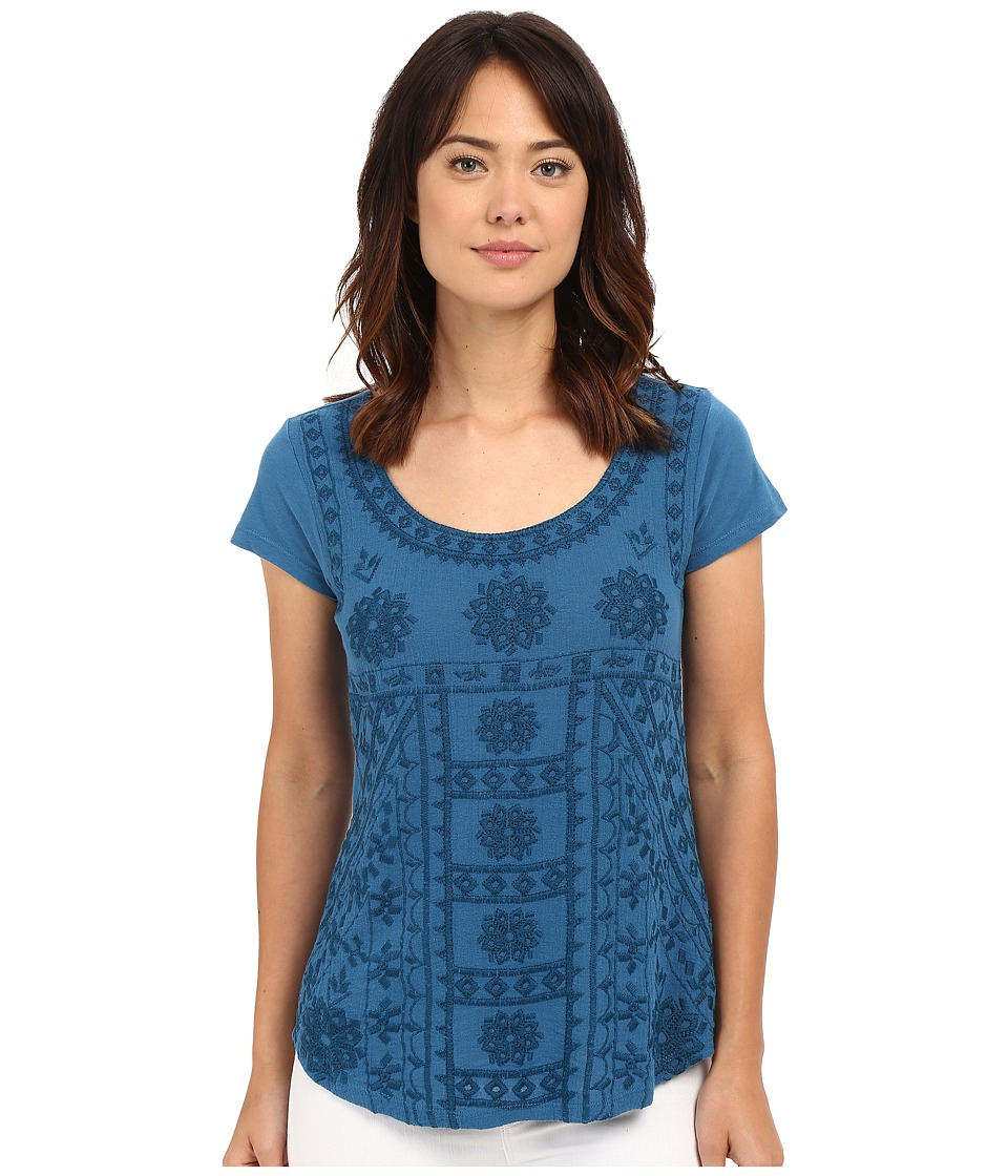 Lucky Brand - Embroidered Shirt (Peacock) Women's Blouse