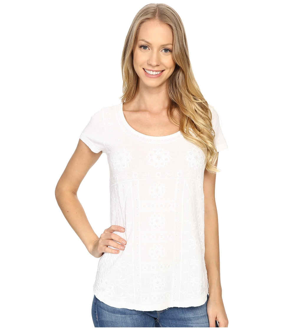 Lucky Brand - Embroidered Shirt (Lucky White) Women's Blouse