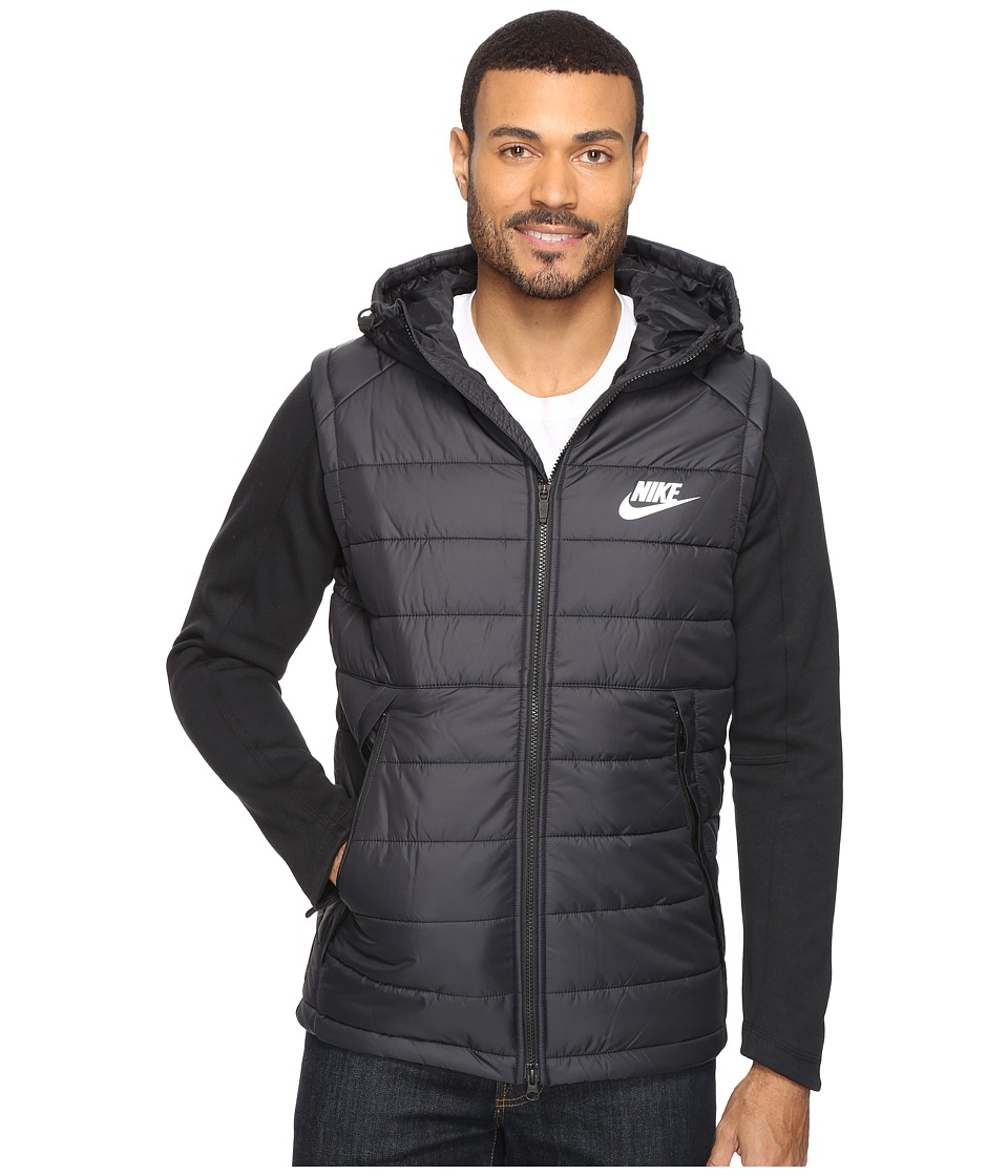Nike - NSW AV15 SYN Hooded Jacket (Black/Black/White) Men's Coat
