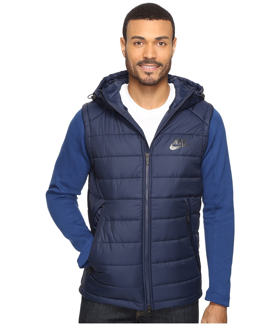 Nike - NSW AV15 SYN Hooded Jacket (Obsidian/Coastal Blue/Black) Men's Coat
