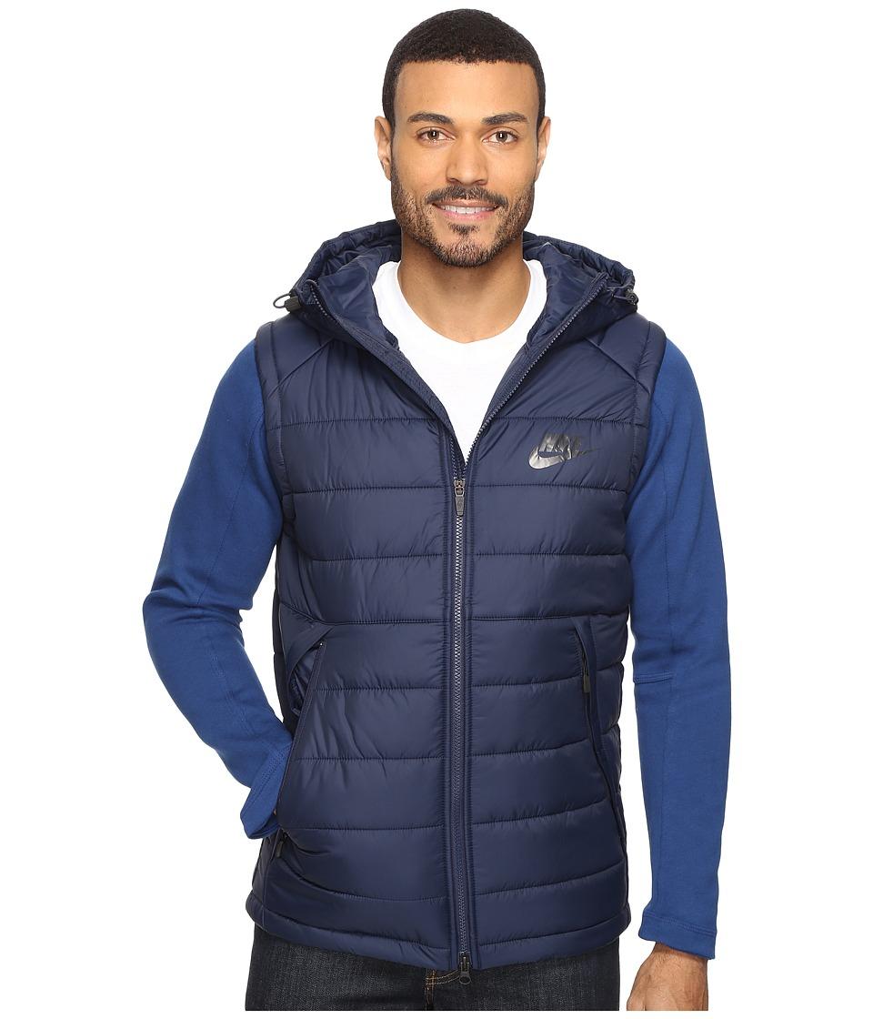 Nike - NSW AV15 SYN Hooded Jacket (Obsidian/Coastal Blue/Black) Men's Coat