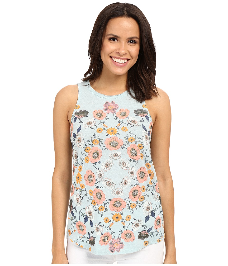 Lucky Brand - Flower Surf Tank Top (Gray Mist) Women's Sleeveless