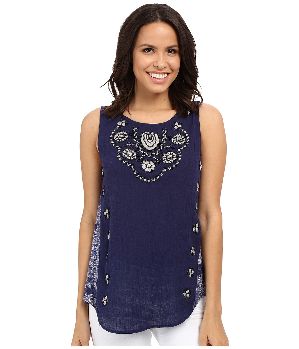 Lucky Brand - Scoop Neck Tank Top (Indigo) Women's Sleeveless