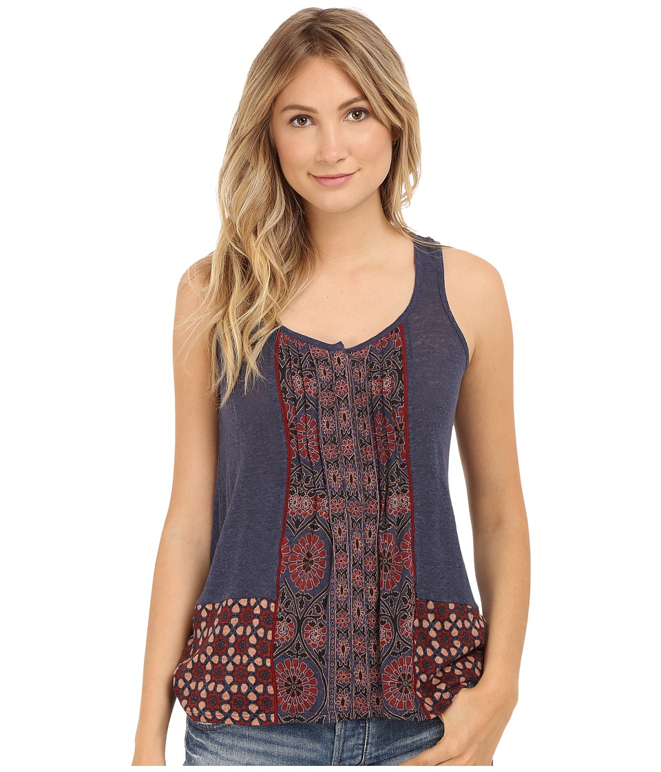Lucky Brand - Mixed Print Tank Top (Blue Multi) Women's Sleeveless