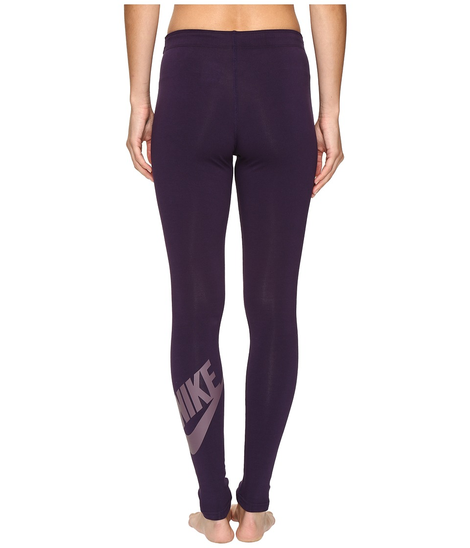 Nike - Leg-A-See Logo Legging (Purple Dynasty/Purple Shade) Women's Casual Pants