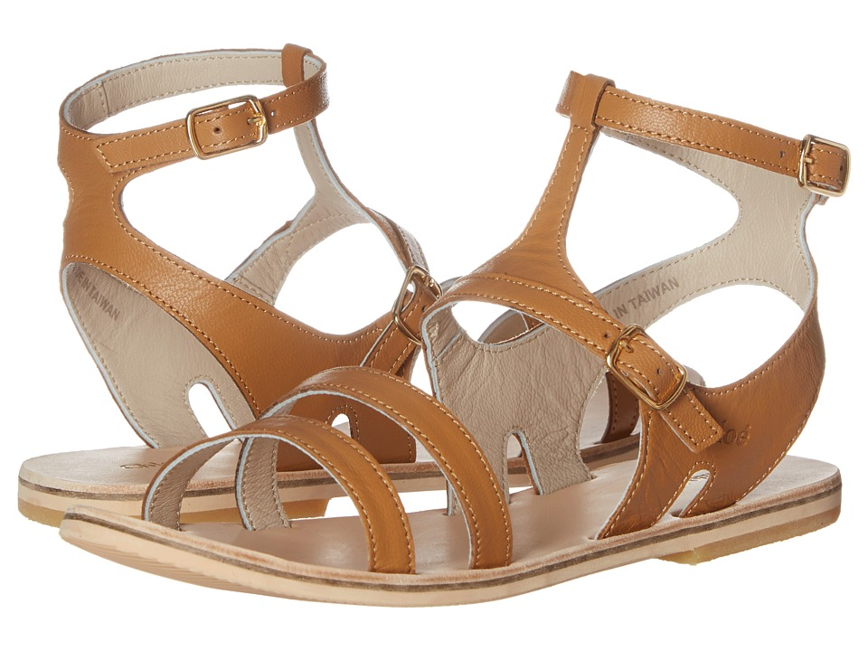 Chloe Kids - Leather Sandals (Little Kid) (Brown) Girls Shoes