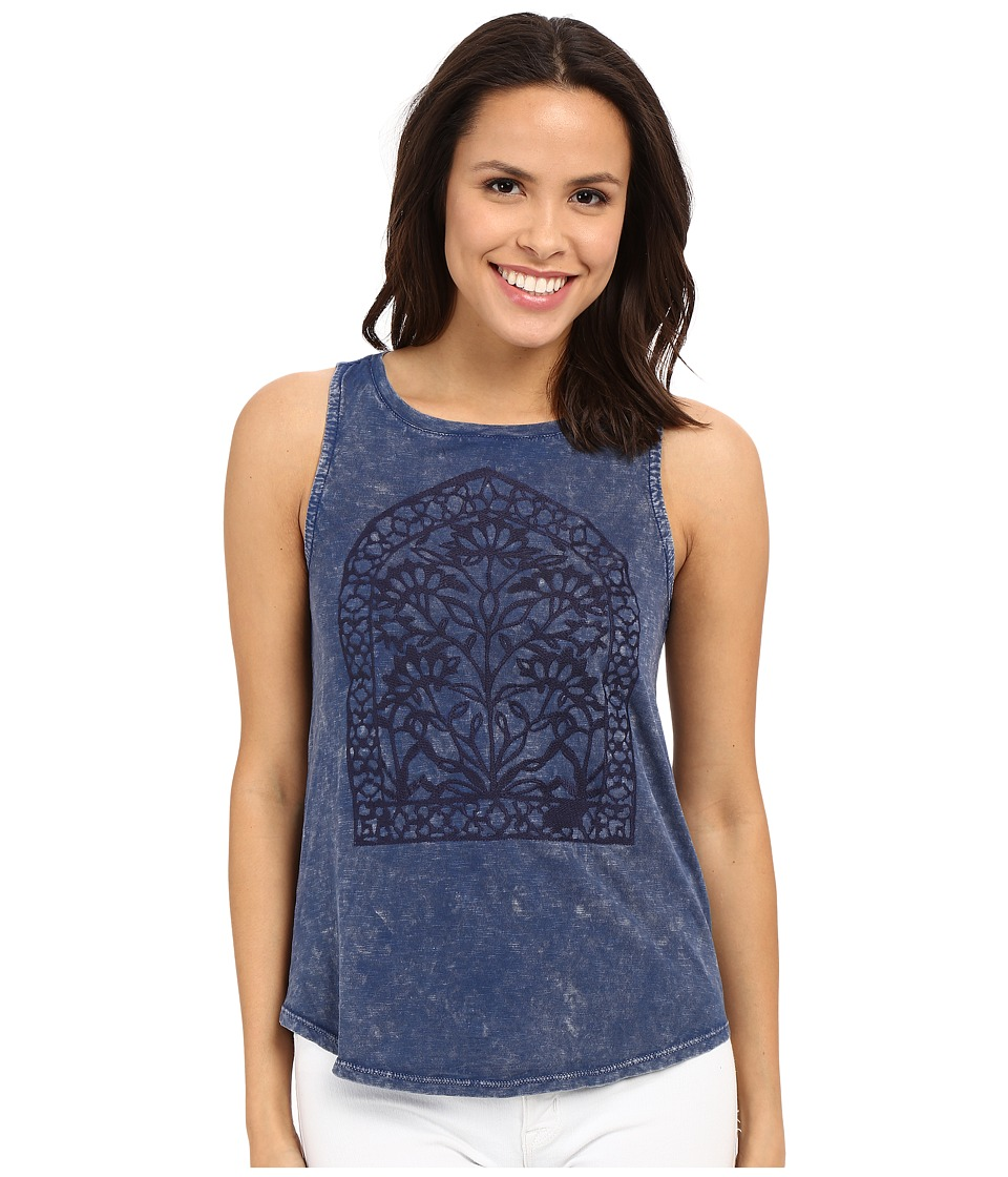 Lucky Brand - Window Embroidery Tank Top (Blue Multi) Women's Sleeveless