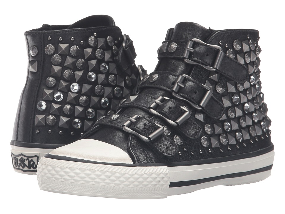 ASH Kids Viper (Little Kid/Big Kid) (Black) Girl's Shoes