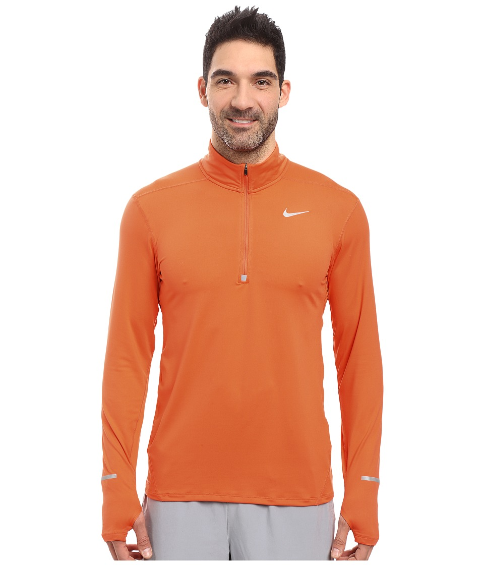 Nike - Dry Element Long Sleeve Running Top (Turf Orange/Reflective Silver) Men's Long Sleeve Pullover