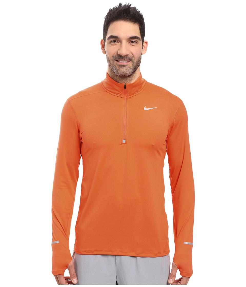 Nike - Dry Element Long Sleeve Running Top (Turf Orange/Reflective Silver) Men's Long Sleeve Pullover