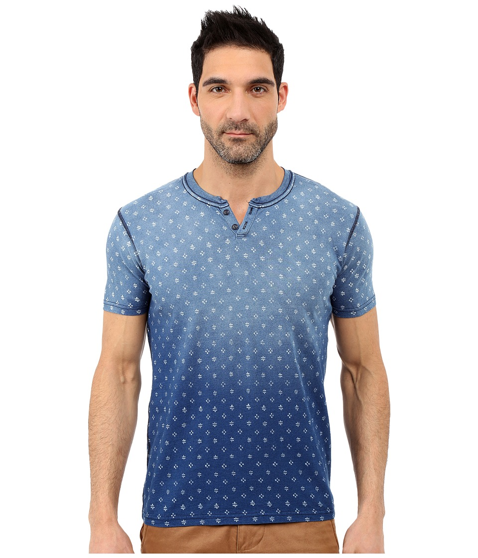 Lucky Brand - Reservoir Notch Tee (Indigo) Men's Short Sleeve Pullover