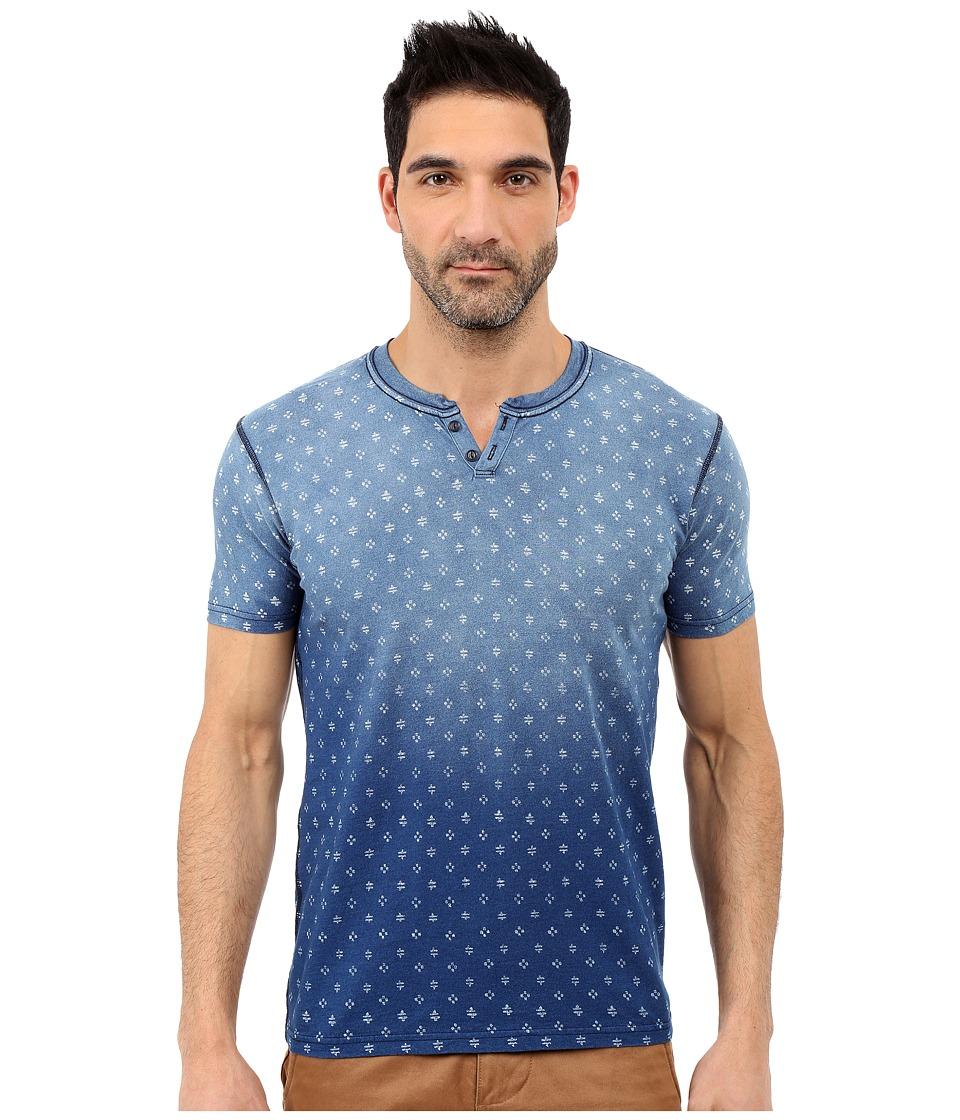 Lucky Brand - Reservoir Notch Tee (Indigo) Men's Short Sleeve Pullover