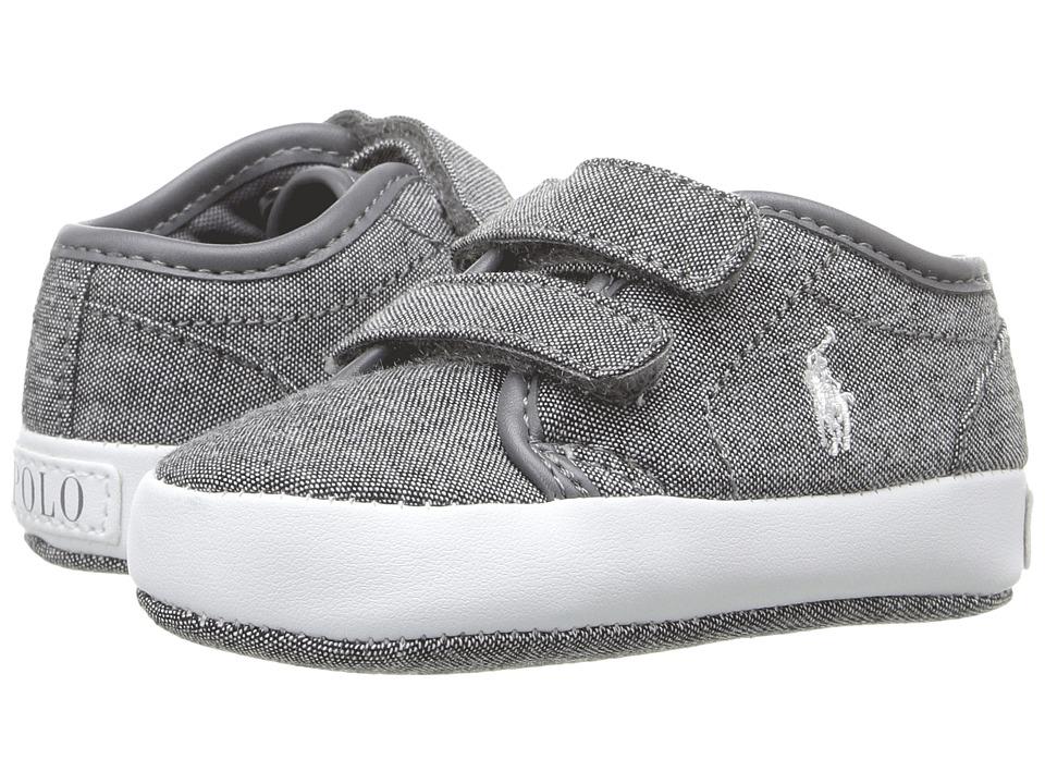 Polo Ralph Lauren Kids - Ethan Low EZ (Infant/Toddler) (Grey) Boy's Shoes