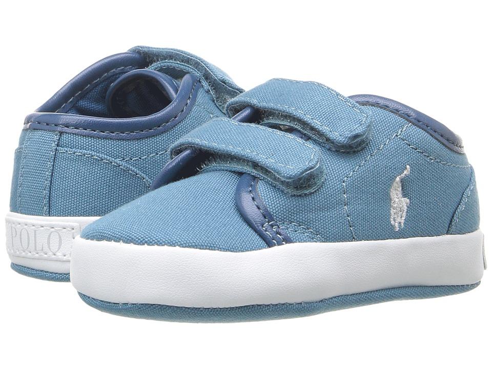 Polo Ralph Lauren Kids - Ethan Low EZ (Infant/Toddler) (Blue) Boy's Shoes