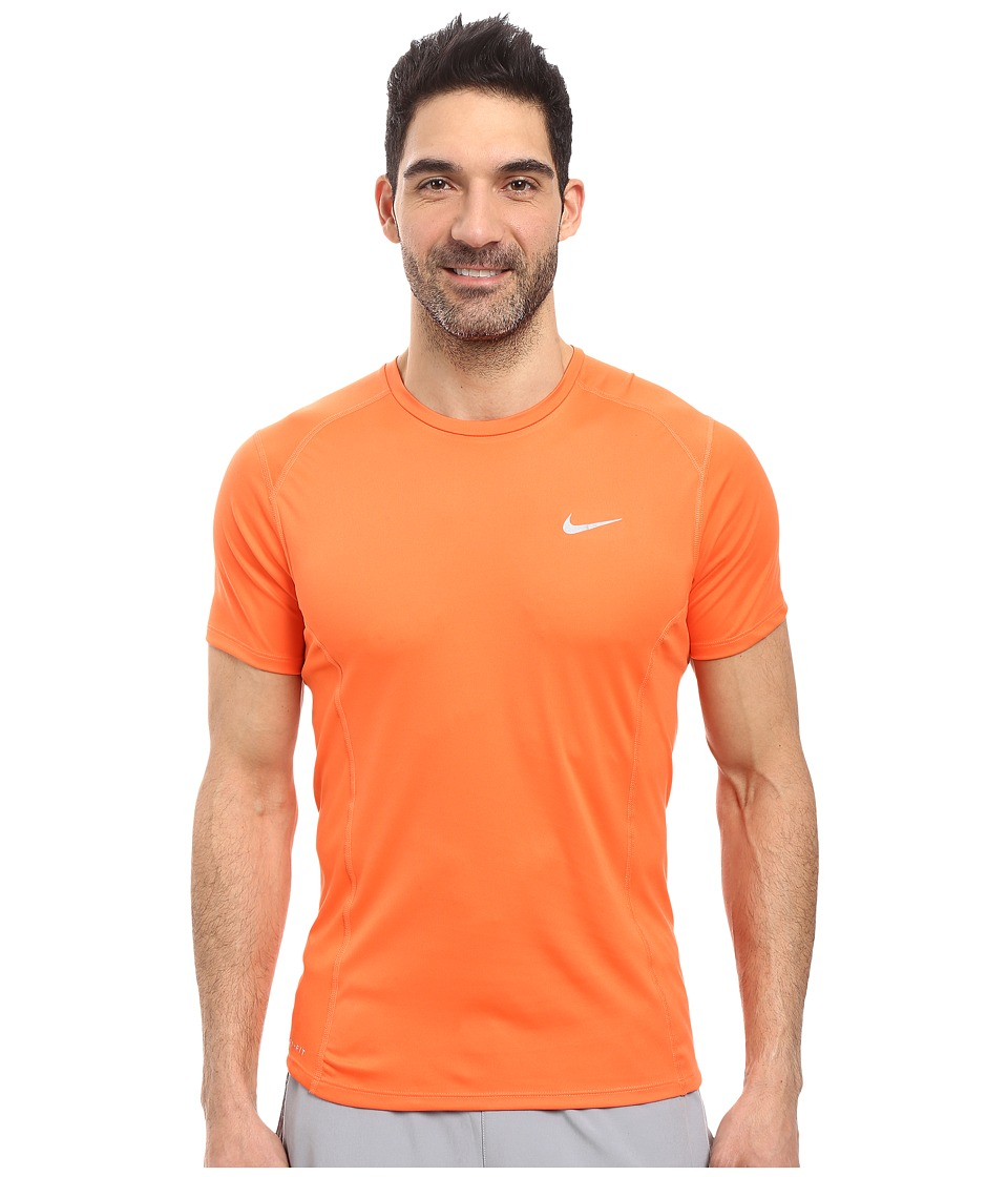 Nike - Dri-FIT Miler Running Shirt (Turf Orange/Reflective Silver) Men's Workout