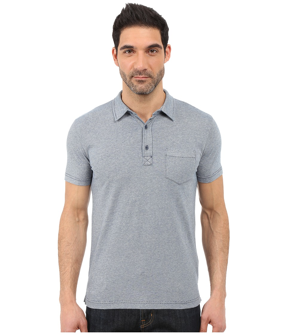 Lucky Brand - Resort Polo (Indigo) Men's Short Sleeve Pullover