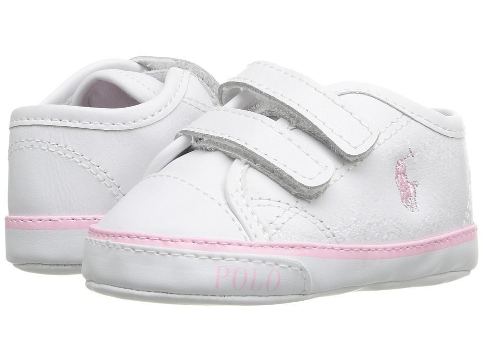 Polo Ralph Lauren Kids - Daymond EZ (Infant/Toddler) (White) Girl's Shoes