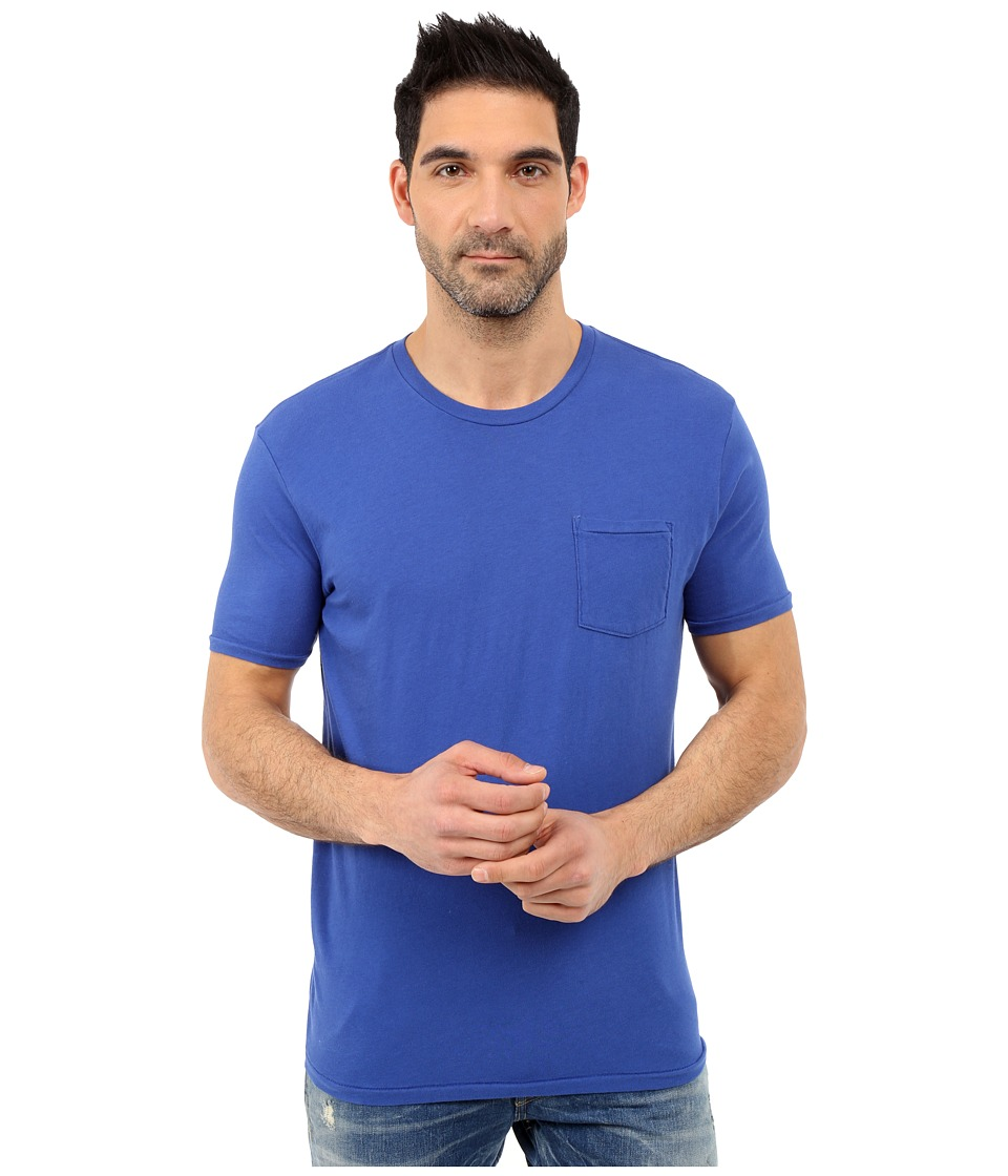 Lucky Brand - Pocket Crew (Olympian Blue) Men's Short Sleeve Pullover