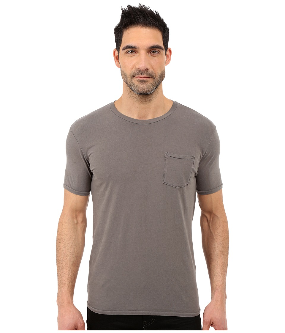 Lucky Brand - Pocket Crew (Brushed Nickel) Men's Short Sleeve Pullover