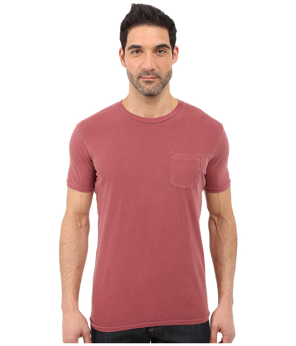Lucky Brand - Pocket Crew (Red Dahlia) Men's Short Sleeve Pullover