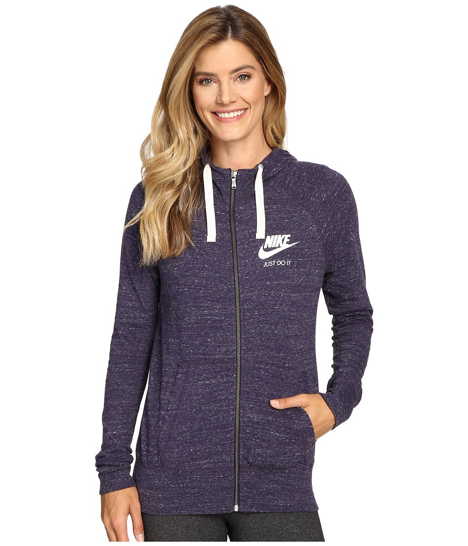Nike - Gym Vintage Full Zip Hoodie (Purple Dynasty/Sail) Women's Sweatshirt
