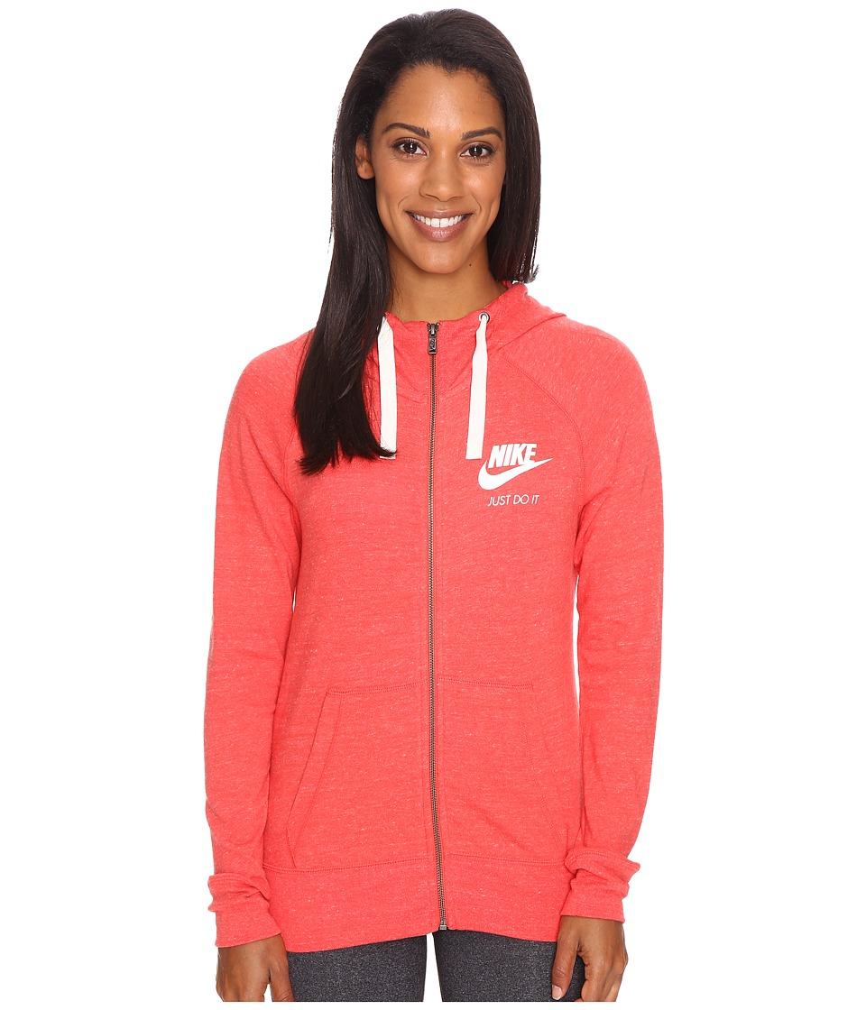 Nike Gym Vintage Full Zip Hoodie (Ember Glow/Sail) Women