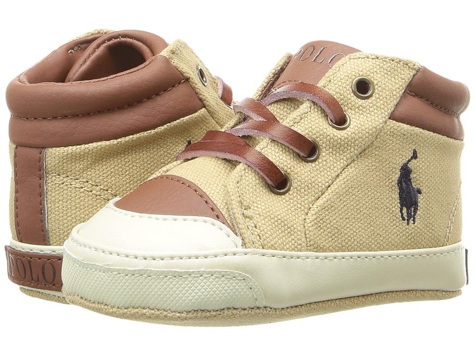 Polo Ralph Lauren Kids - Geffron Mid Zip (Infant/Toddler) (Khaki) Boy's Shoes