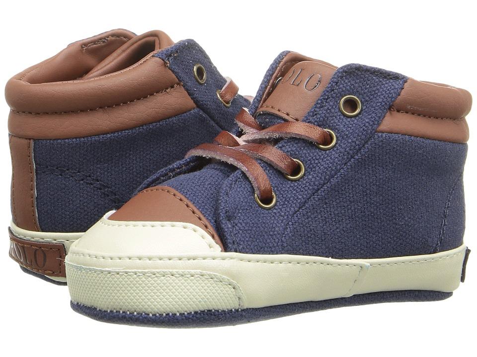 Polo Ralph Lauren Kids - Geffron Mid Zip (Infant/Toddler) (Navy) Boy's Shoes