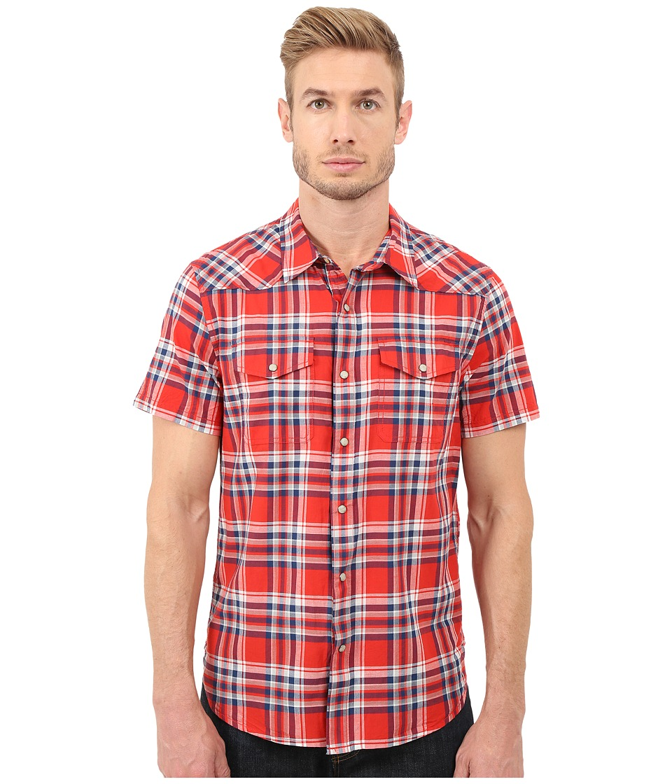 Lucky Brand - Short Sleeve San Berdu Shirt (Red/White/Blue) Men's Clothing