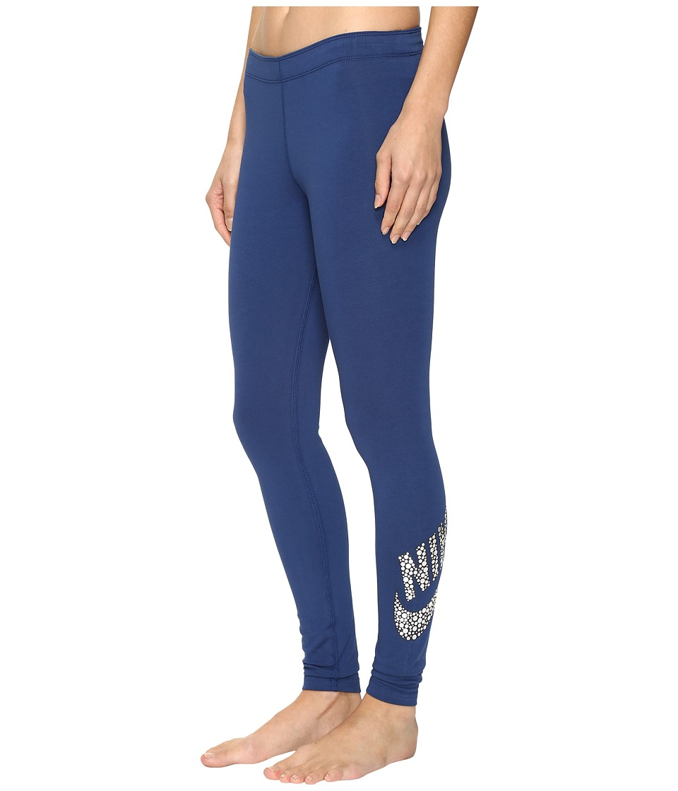 Nike - Sportswear Legging (Coastal Blue/Obsidian/Black) Women's Casual Pants