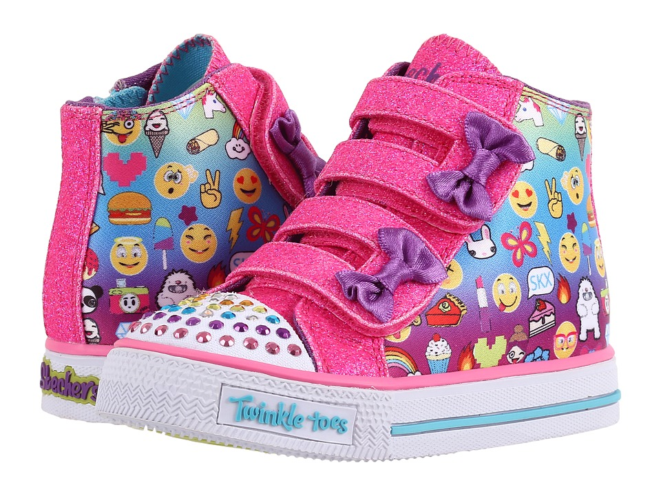 SKECHERS KIDS - Shuffles 10687N Lights (Toddler/Little Kid) (Multi) Girls Shoes